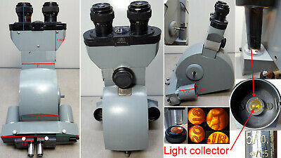 Carl Zeiss microscope head #4655265, 10X eyepieces, 5/0.1 ∞/1.5 Objectives