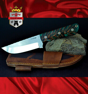 015-5160 Bush knife KingForge hunting knives blade gift pine cone epoxy survival