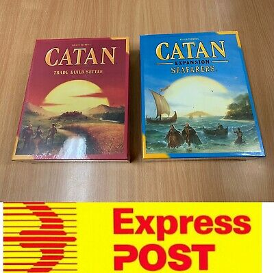 Settlers of Catan 5th edition or Catan Seafarers expansion, AU stock, Express Po