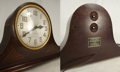 ANTIQUE SETH THOMAS MANTEL CLOCK USA Art Deco PLYMOUTH rare mantle old electric