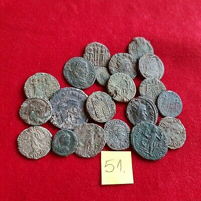 Ancient Roman coins - UNCLEANED COINS - Beautiful . Lot with 20 pieces .No 51