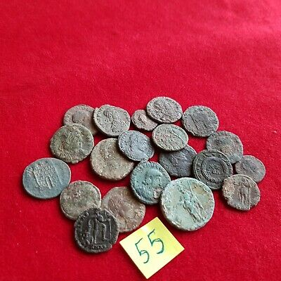 Ancient Roman coins - UNCLEANED COINS - Beautiful . Lot with 20 pieces .No 55