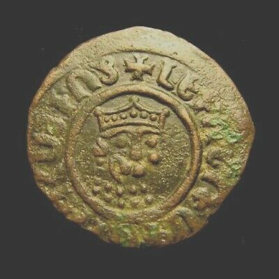 ARMENIA. LEVON 1st. AD 1198-1219. Copper TANK.  King's head. Patriarchal cross.