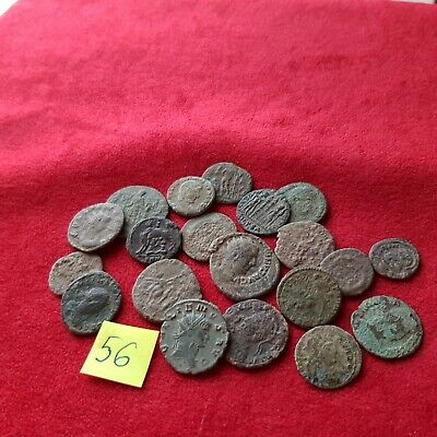 Ancient Roman coins - UNCLEANED COINS - Beautiful . Lot with 20 pieces .No 56