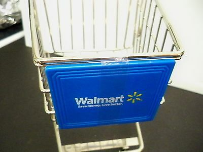 Minature Walmart Grocery Shopping Cart 10 1/4 Inches