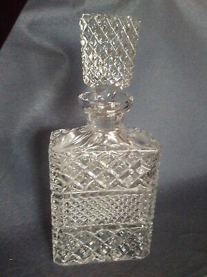 Rectangular Lead Crystal Wine Whiskey Liquor Decanter with Stopper