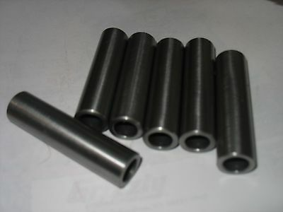 "Steel Bushings /Spacer/Sleeve  3/4"" OD X 9/16"" ID X 2 1/4"" Long  CRS 4 Pcs"
