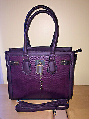 fa47296cb91 ALDO (BURGUNDY GOLD FAUX ANIMAL Skin) Tote Shoulder Bag w Adjustable ...