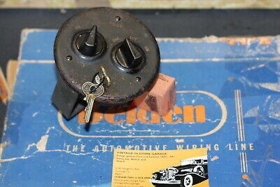 Vintage Ignition Light Switch 20's 30's Chris Craft,Cadillac,Oldsmobile,Delco