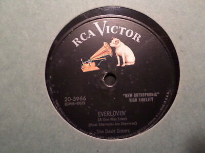 Rca Victor 78 Record/Davis Sisters/Everlovin'/Tomorrow's Just Another Day To Cry