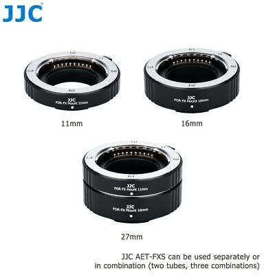 JJC Metal Auto Focus Adapter Ring Automatic Extension Lens Tube for Fujifilm X