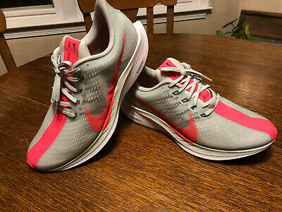 d0fca10c304eb EUC Sz 13 Nike Zoom Pegasus 35 Turbo Running Shoe Grey Hot Punch AJ4114-