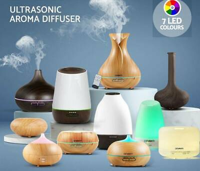 Ultrasonic Air Humidifier LED Essential Oil Aroma Diffuser Aromatherapy AU Sale!