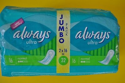 Always Ultra Normal 32 Serviettes hygiéniques Protection féminine NEUF