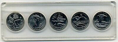 "2018 ""ATB"" NATIONAL PARK QUARTER 5-COIN SET P or D MINT BRILLIANT UNCIRCULATED"