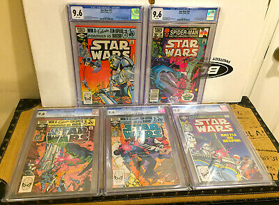 1980s MARVEL STAR WARS 53 54 55 56 57 SET ALL CGC 9.6 WHITE PAGES *FREE SHIPPING