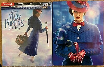 Mary Poppins Returns 4K Ultra Hd Blu Ray Target Exclusive Digipack + Slipcover