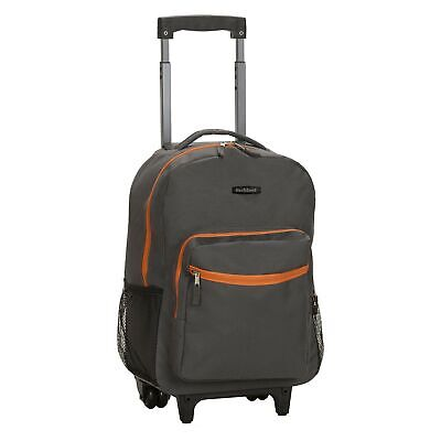 Rockland Luggage 17 Inch Rolling Backpack, Charcoal, One Size NEW