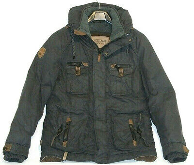 NAKETANO HERREN WINTER Mantel Jacke Welleprinz mit Teddyfell