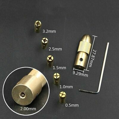 Mini Small Drill Clamp Fixture Chuck Brass Rod 2mm Set For Electric Motor Shaft