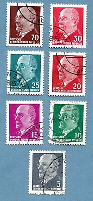 East Germany stamps 1961 Walter Ulbricht (7 stamps)