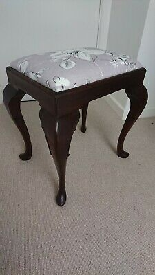 Quality Edwardian Dark Mahogany Dressing Table Stool