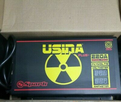USINA Spark 220A @ 14.4VDC Variable Output Voltage Power Supply Volt / Amp Meter