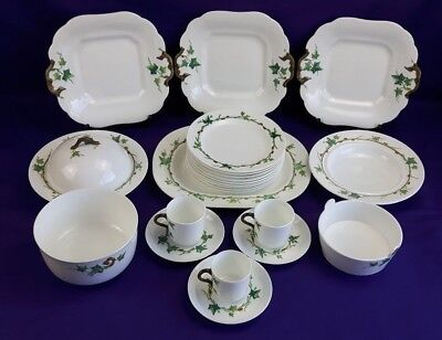 Antique Minton 1868 Hand Painted Bone China Ivy Dinner Tea Set Sold Individually