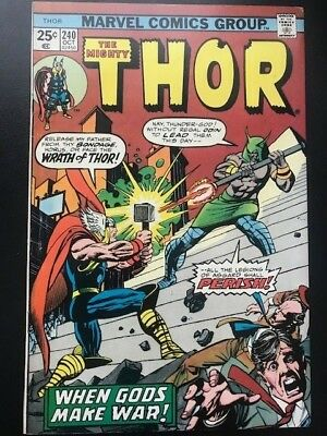 The Mighty Thor #240 Vol 1  Marvel Comics Bronze Age   FN+ Cents Issue