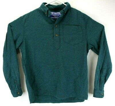 becc86814 Chubbies Men's Shirt Size M Medium The Nutter Pullover Long Sleeve Green /  Teal