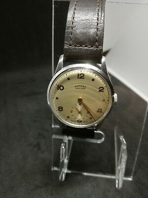 VINTAGE RARE ROTARY MAXIMUS c1940s GENTS WATCH 15 JEWELs