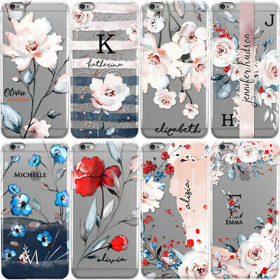Personalised Floral Phone Case With Initials Name Cover For Google Pixel & Xl