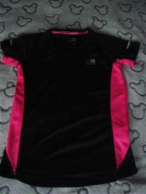 Girls Black & Pink Karrimor Run Top Aged 11/12 Years