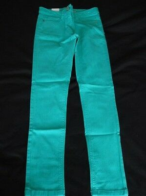 Girls Bnwt Green Next Skinny Jeans Age 10