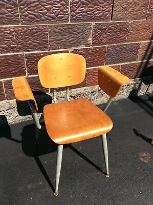 Vintage Mid Century Bentwood / Metal Chair W / Arms - Very Nice