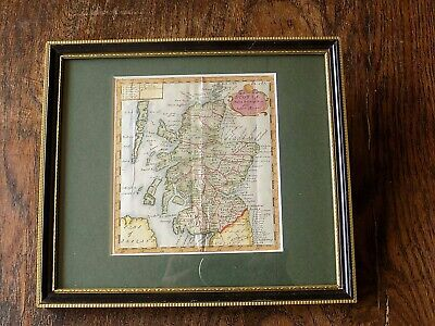 c1700 Scotland Morden Genuine Antique Map Miniature Scottish Gordon Edinburgh