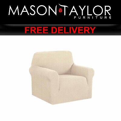 MT High Stretch Sofa Cover Couch Protector 1Seater Sand SCOVER-MERBAU-1-SD AU