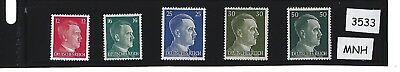 #3533 Adolph Hitler Mint stamp set / 1941 Third Reich MNH Issues / Nazi Germany