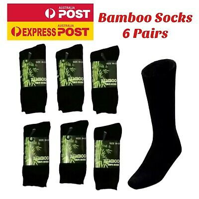 Bamboo Work Socks Heavy Duty Bamboo Socks Thick Winter Socks 6 Pairs New Mens