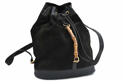 f15d11de789 GUCCI QUEEN MARGARET Bamboo Leather Black Backpack 476664 Authentic ...