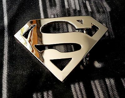 Super Hero Super Man S Chrome Belt Buckle Dc Superman Snap Belt Justice League