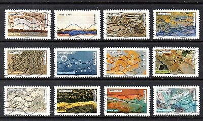 France - French - 2018 - Works Of Nature - Fu - Full Set Of 12 Stamps