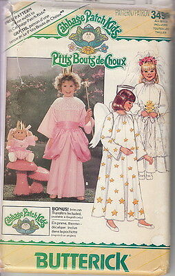 80s UC Cabbage Patch Kids Fairy Angel Bride Costume Pattern 4-14~Butterick 3490