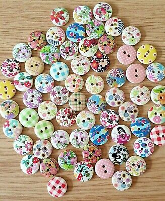 Job Lot of Assorted Buttons Size 15mm - Various Quantities Available