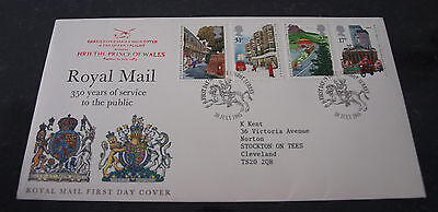 First Day Cover 350 years of Royal Mail Public Postal Service 1985 SHS Postmark