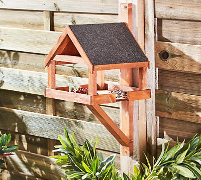 Hove Fence Wall mounted Bird Table Hand Built In The UK