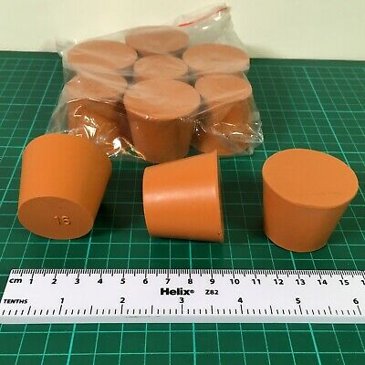 Red Rubber Stoppers 35mm Base Diameter, 35mm high Bung- Pack of 10