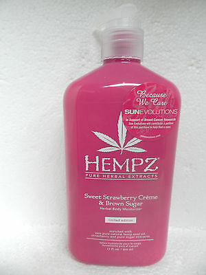 Supre Hempz Sweet Strawberry Creme & Brown Sugar Daily Body Moisturizer Lotion