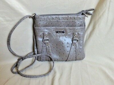 Koltov Taupe Organizer Multi-Compartment Textured Shoulder Bag Purse