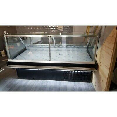 2 M Serve Over Counter Display Chiller Meat/Fish Fridge Deli Maxi Sq Brand N